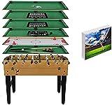 U/N Table MultiJeux 7 en 1 Baby-Foot, Air Hockey, échecs et Dames, Backgammon, Blackjack, Billard, Poker Sport Jouet (8 Jeux avec...