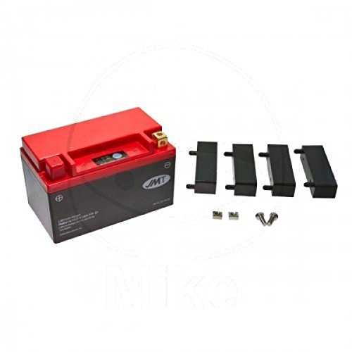 JMT LITHIUM-IONEN Motorrad Batterie 12 Volt HVT8, KMX14-BS, YTX14-BS, YTX14H-BS | LiFePO4 | HJTX14H-FP passend für SYM Quad Raider 600, UA60A-6, Bj. 2008-2014 [Preis ist inkl. Batteriepfand]