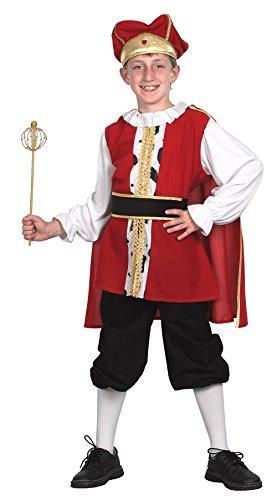 Bristol Novelty Cc560 Costume de Roi médiéval pour Enfant, Taille, Multicolore, Large, 134-146 cm