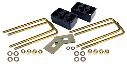 """RideEffex 13-2060 Black 2"""" x 3"""" Heavy Duty Steel Lift Block Kit (for 3"""" Wide Leaf Springs with Two Center Pins)"""