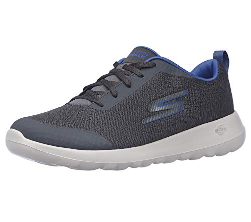 Skechers Men's Gowalk Max-Athletic Workout Walking Shoe with Air Cooled Foam Sneaker, Charcoal/Blue, 10.5
