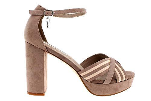 XTI - Sandalia DE Plataforma Cuero Color: Taupe