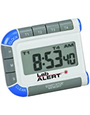 Heathrow Scientific HEA24670 - Alarma digital para laboratorio (cuatro canales, con temporizador, 73 x 59 x 13 mm)