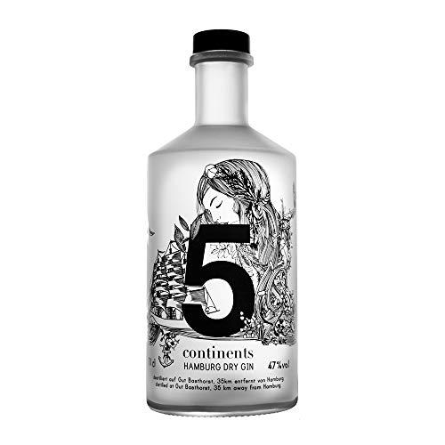 5 Continents Gin | 1 x 0,7l | BIO | Feingeisterei | 22 Botanicals aus 5 Kontinenten