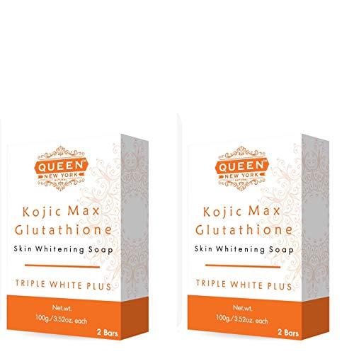 QUEEN NATURAL NEW YORK   Kojic Max Natural Skin Renewal Whipp Soap(4 Bars-Kojic+Gluta+Mesh)