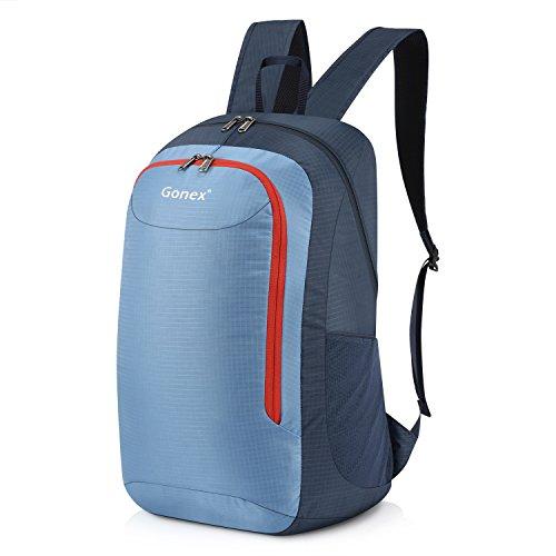 Gonex Unisex 28 Liter Faltbarer Rucksack Leichter Tagesrucksack, für Outdoor Wandern Reisen,Blau