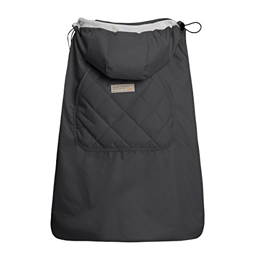 Bebamour Universal Hoodie All Season Carrier Cover for Baby Carrier (Dark Grey)