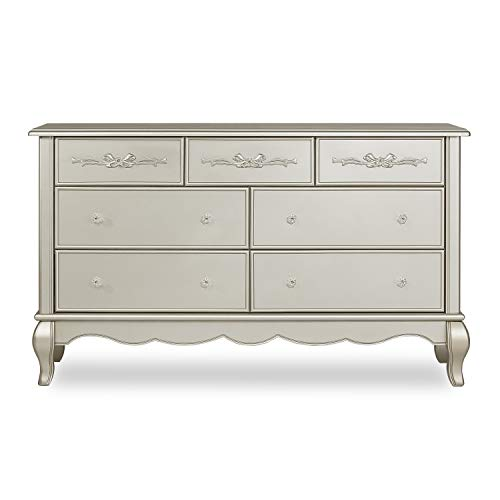 Evolur Aurora 7 Drawer Double Dresser, Metallic Gold Dust