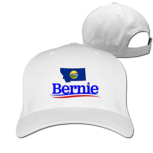 Montana pour Bernie Sanders Hip Hop casquettes de baseball réglable - Blanc - Taille Unique