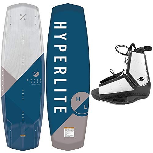 Hyperlite Wakeboard Vapor 2021 with Destroyer Wakeboard Bindings Fits Most Shoe Sizes (139 cm)