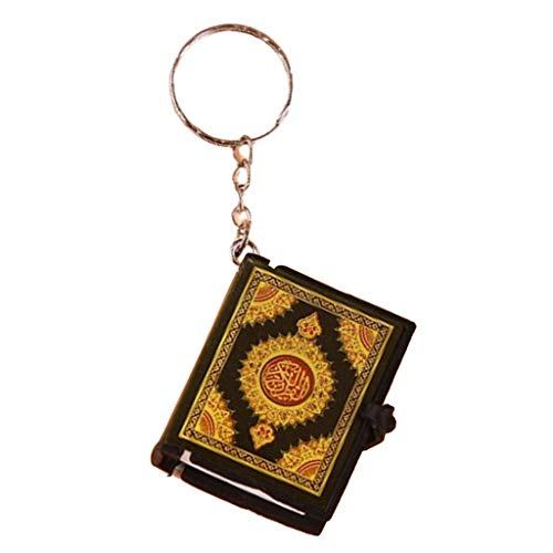 Hellery Mini Koran Buch Muslim Anhänger Schlüsselanhänger Schlüsselhalter Schlüsselbund Autoanhänger - Schwarz