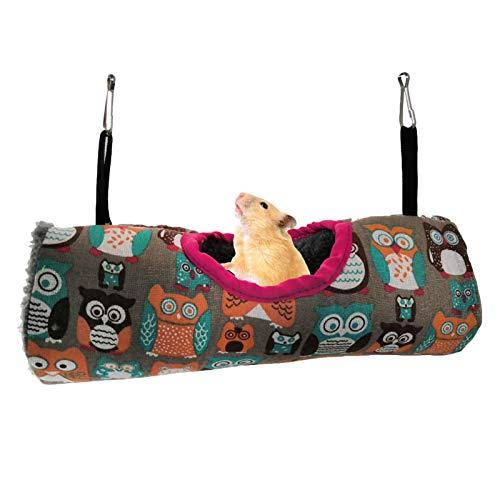 Hanster Tunnel Hängematte Warmer Tunnel Baumwollhaus Tunnel Rohr Spielzeug Hängend Kuscheltunnel Höhlenhütte Für Kleine Haustiere Hamster Ratte Frettchen Eichhörnchen Chinchilla Meerschweinchen