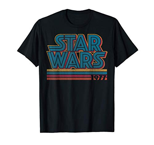 Star Wars Super Retro Striped Logo 1977 Camiseta