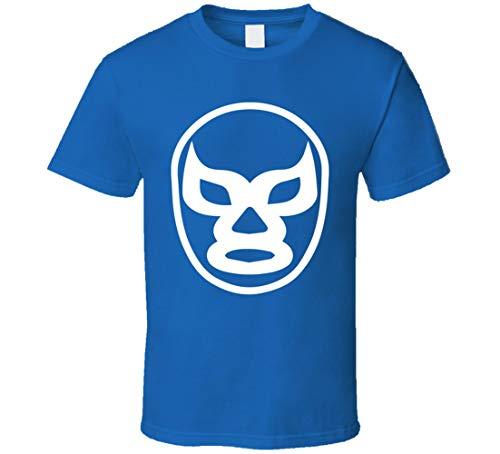LIYUAN Lucha Libre Mask Wrestling T-Shirt, Blau Gr. M, blau