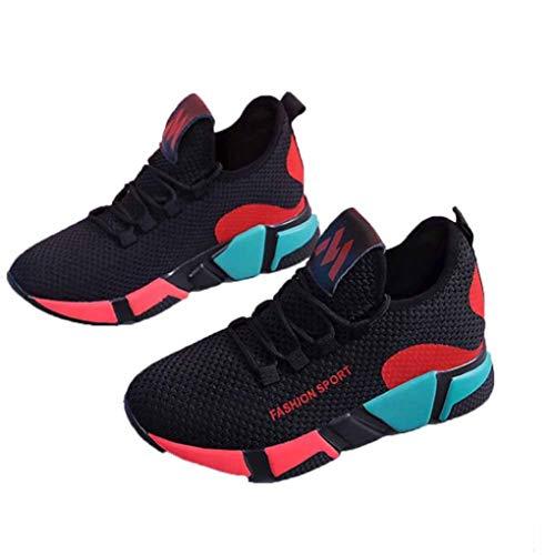 Dames Gevulkaniseerde Schoenen Met Veters Lente Platform Mesh Sneakers Ademend Mesh Wandelen Sport Flats Casual Platform Wedges Trainers
