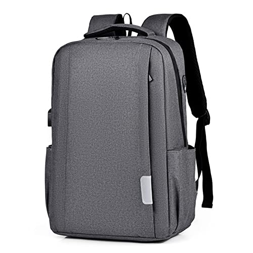 Mens Zaino Zaini Laptop 17 Pollici 15.6 ''Anti Furto Maschio Notebook Viaggio Zaino Donne Ufficio Viaggi Bagpack,Grigio