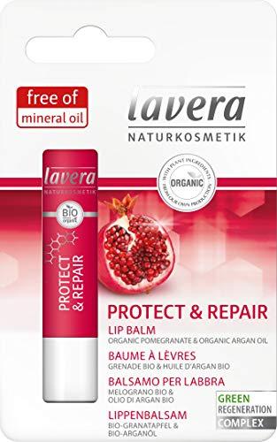 Lavera Protect & Repair Balsamo labia vegano, cosmeticos naturales 100% 4.5 gr