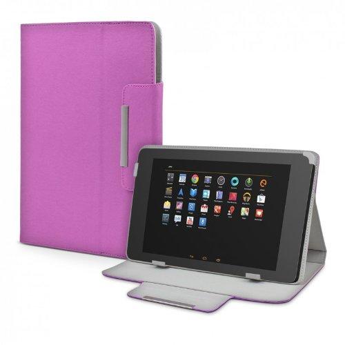 eFabrik Universal Tablet Tasche Hülle für 10-10.1 Zoll Acer Iconia A3-A10 Zubehör Schutzhülle mit Aufsteller Kunstleder lila