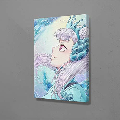 wZUN HD Imprime Arte de la Pared Cartel Negro Pintura Anime japonés imágenes de decoración del hogar 60x90 Sin Marco