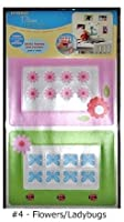 Peel n' Stick Flowers & Ladybugs Photo Frames and Corners - in pink & green