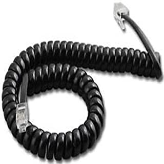 Pack//Lot of 2 White 9ft Handset Cord Panasonic Phone KX T7200 T7400 T7600 Series