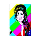 Sänger-Poster Amy Winehouse 2, Leinwand-Poster, Wandkunst,