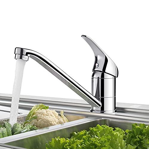 BONADE Küchenarmatur Hochdruck Wasserhahn 360° Schwenkbare Spültischarmatur Küche Armatur Chrom Mischbatterie Einhandmischer Einhebel Küchenmischer
