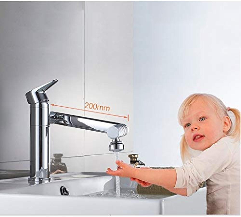 Spültischarmaturen ZQG 360 Grad Drehhahn Bubbler Filternetz Wasserhahn Belüfter Anschluss Düsendiffusor für wassersparende Küche Zubehr (Größe   Short)