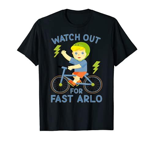 Guarda fuori per Fast Arlo Boy sulla bicicletta della bici Maglietta