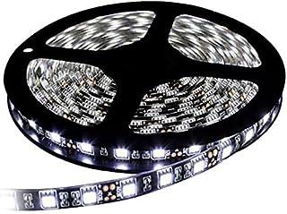 イドミせ LEDテープ 黑ベース 5m 300連SMD5050 正面発光 12V 防水 高輝度 カラー選択可能 ストリップライト テープライト (ホワイト)