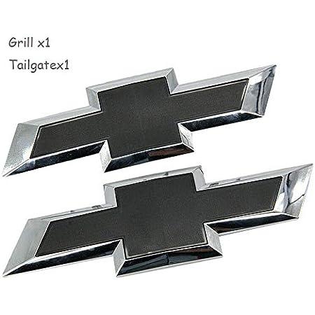2014-2015 Chevrolet Silverado 1500 2015-2018 HD/'s Black Red Bowtie Emblems