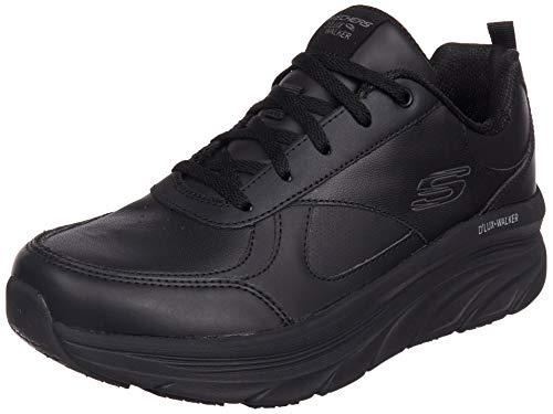 Skechers D'lux Walker, Sneaker Donna, Black Leather/Trim, 37 EU