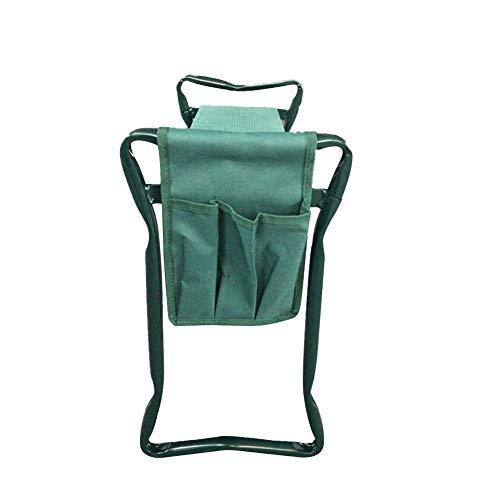 Amusingtao Giardino Inginocchiatoio Protegge Ginocchia Sgabello Multi Funzione Sedile Leggero Cuscinetto 150KG Morbido con Porta Attrezzi da Esterno E