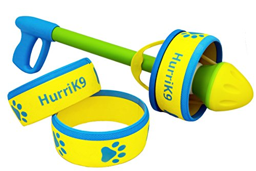 HurriK9 Dog Ring Launcher, Starter Pack Launcher + 3 Standard Rings