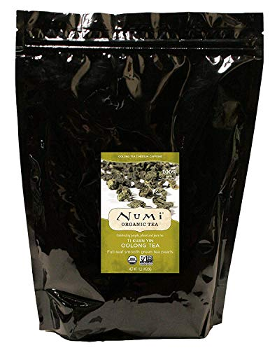 Numi Organic Tea Ti Kuan Yin, 16 Ounce Pouch, Loose Leaf Oolong Tea