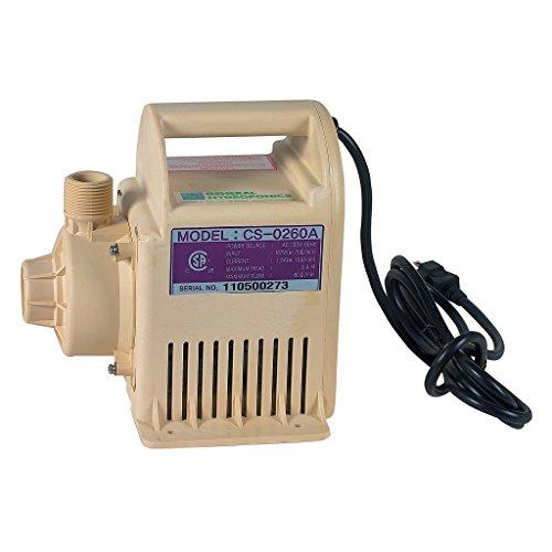 General Hydroponics GH2707 1250 GPH TNC 1/4 HP Water Pump, Tan (0.25 Hp Water)