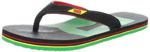 DC Shoes Herren SNAP Graffik Zehentrenner, Mehrfarbig (Rasta), 37 EU