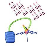 Toy Rocket Launcher, con un Flash Colorido, dispara hasta 100 pies, Jump Rocket Set Incluye 12 Cohetes, Lanzador de misiles, Mejor Regalo para niños y niñas (Pedal)