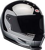 Bell Eliminator Street Motorcycle Helmet (Spectrum Matte Black/Chrome, Large)