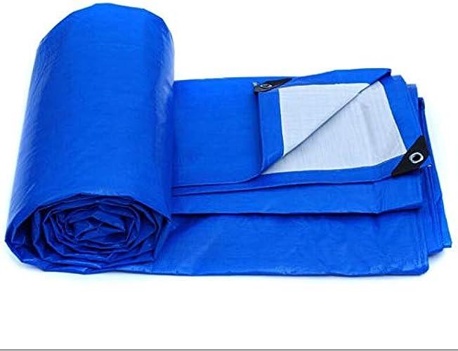 HCYTPL Bache étanche épaississeHommest résistant à la Pluie ombrage extérieur en Plastique en Plastique PVC, (Couleur  Bleu, Taille  3x4m),3  4m