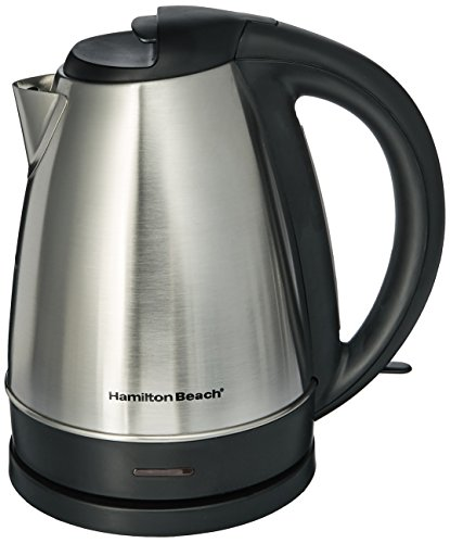 Hamilton Beach Electric Tea Kettle, Water Boiler & Heater, 1.7 L, Cordless, Auto-Shutoff & Boil-Dry Protection, Stainless Steel (40989)