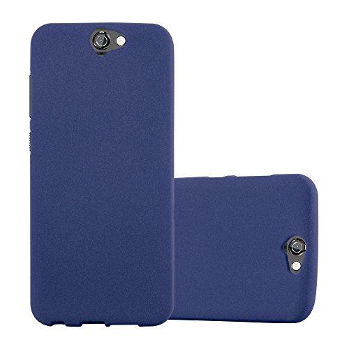 Cadorabo Hülle für HTC ONE A9 in Frost DUNKEL BLAU - Handyhülle aus flexiblem TPU Silikon - Silikonhülle Schutzhülle Ultra Slim Soft Back Cover Hülle Bumper