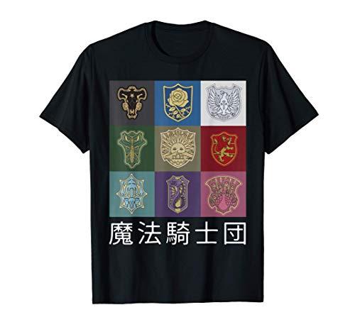 Classic Japanese Fantasy Manga Anime Clover Art Black Design T-Shirt