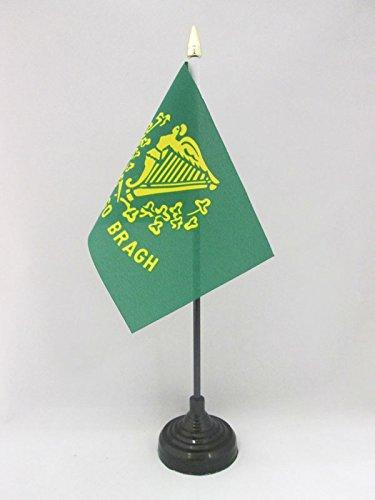AZ FLAG TISCHFLAGGE Irland Erin GO Bragh 15x10cm goldene splitze - Erin GO Braugh TISCHFAHNE 10 x 15 cm - flaggen