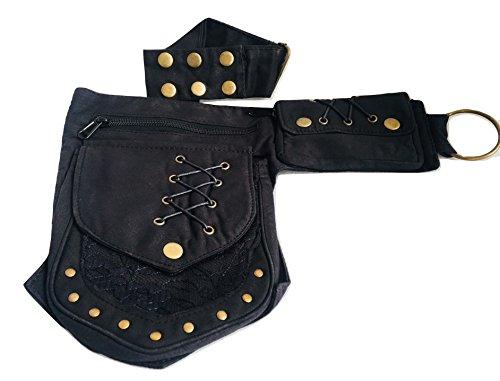 Large Fannypack Adjustable Waist Pack Bag Hipbag Travelling Running Utility Belt Cotton Practical Waistbag Travel