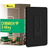 3 Way Smart Dimmer Switch by Martin Jerry | Black Touch Trailing Edge 4 Way Smart Dimmer Switch, SmartLife App, Compatible with Alexa as WiFi Light Switch Dimmer, Works with Google Home