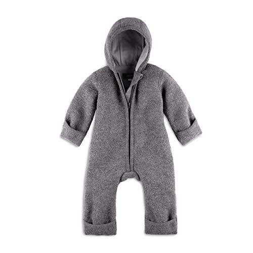 Halfen Wollwalk - Mono para bebé de lana virgen orgánica, 100% fabricado en Alemania, color gris gris 62 cm-68 cm
