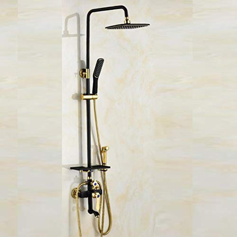 LWUDI Duschsysteme Handheld-Duschkpfe, Vierte Gang alle Bronze-Spritzpistole nehmen eine Dusche Dusch-Set, verstellbare Duschkpfe Handheld, Massage-Handbrause