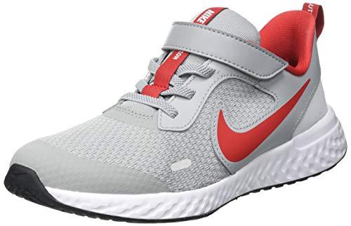 Nike Revolution 5 Walking-Schuh, Grey Red, 28.5 EU