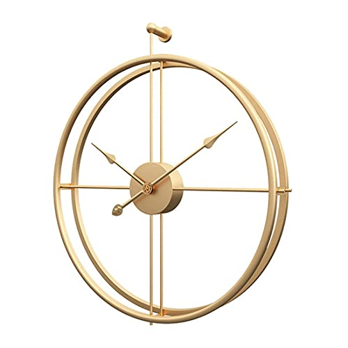Eruner Minimalism Modern Style Wall Clock Decoration Non Ticking Bettery Operated, Oversize Metal...